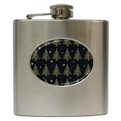Christmas Tree   Pattern Hip Flask (6 Oz) by Valentinaart