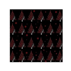 Christmas Tree   Pattern Small Satin Scarf (square) by Valentinaart
