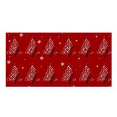 Christmas Tree   Pattern Satin Shawl by Valentinaart