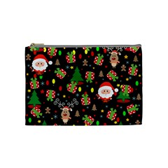 Santa And Rudolph Pattern Cosmetic Bag (medium)  by Valentinaart