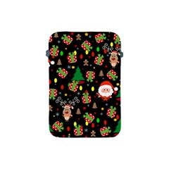 Santa And Rudolph Pattern Apple Ipad Mini Protective Soft Cases by Valentinaart