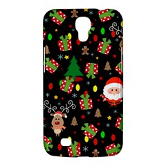 Santa And Rudolph Pattern Samsung Galaxy Mega 6 3  I9200 Hardshell Case by Valentinaart
