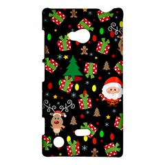 Santa And Rudolph Pattern Nokia Lumia 720 by Valentinaart