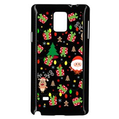 Santa And Rudolph Pattern Samsung Galaxy Note 4 Case (black) by Valentinaart