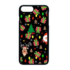 Santa And Rudolph Pattern Apple Iphone 8 Plus Seamless Case (black) by Valentinaart