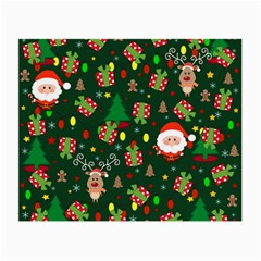 Santa And Rudolph Pattern Small Glasses Cloth (2 Side) by Valentinaart