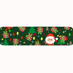 Santa And Rudolph Pattern Large Bar Mats by Valentinaart