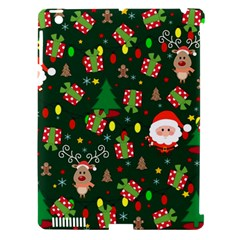 Santa And Rudolph Pattern Apple Ipad 3/4 Hardshell Case (compatible With Smart Cover) by Valentinaart