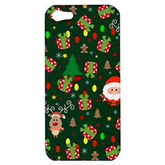 Santa And Rudolph Pattern Apple Iphone 5 Hardshell Case by Valentinaart