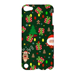 Santa And Rudolph Pattern Apple Ipod Touch 5 Hardshell Case by Valentinaart
