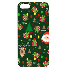 Santa And Rudolph Pattern Apple Iphone 5 Hardshell Case With Stand by Valentinaart