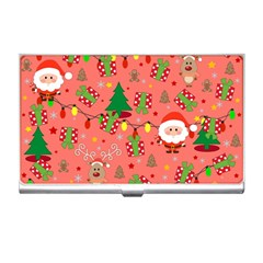 Santa And Rudolph Pattern Business Card Holders by Valentinaart