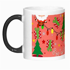Santa And Rudolph Pattern Morph Mugs by Valentinaart