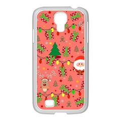 Santa And Rudolph Pattern Samsung Galaxy S4 I9500/ I9505 Case (white) by Valentinaart