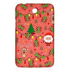 Santa And Rudolph Pattern Samsung Galaxy Tab 3 (7 ) P3200 Hardshell Case  by Valentinaart