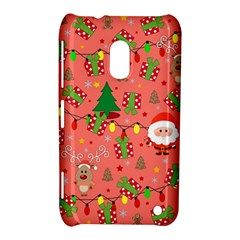 Santa And Rudolph Pattern Nokia Lumia 620 by Valentinaart