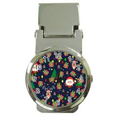 Santa And Rudolph Pattern Money Clip Watches by Valentinaart