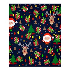 Santa And Rudolph Pattern Shower Curtain 60  X 72  (medium)  by Valentinaart