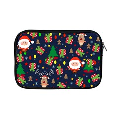 Santa And Rudolph Pattern Apple Ipad Mini Zipper Cases by Valentinaart