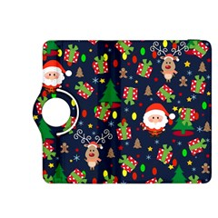 Santa And Rudolph Pattern Kindle Fire Hdx 8 9  Flip 360 Case by Valentinaart