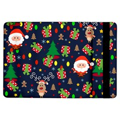Santa And Rudolph Pattern Ipad Air Flip by Valentinaart