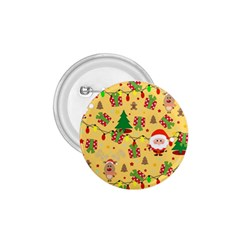 Santa And Rudolph Pattern 1 75  Buttons by Valentinaart