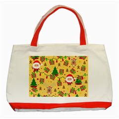 Santa And Rudolph Pattern Classic Tote Bag (red) by Valentinaart
