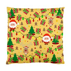 Santa And Rudolph Pattern Standard Cushion Case (two Sides) by Valentinaart