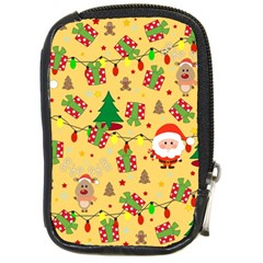 Santa And Rudolph Pattern Compact Camera Cases by Valentinaart