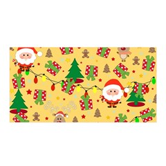 Santa And Rudolph Pattern Satin Wrap by Valentinaart