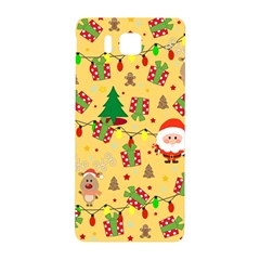 Santa And Rudolph Pattern Samsung Galaxy Alpha Hardshell Back Case by Valentinaart
