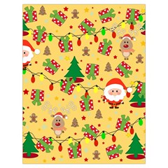 Santa And Rudolph Pattern Drawstring Bag (large) by Valentinaart