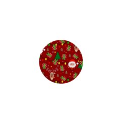Santa And Rudolph Pattern 1  Mini Magnets by Valentinaart