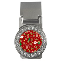 Santa And Rudolph Pattern Money Clips (cz)  by Valentinaart