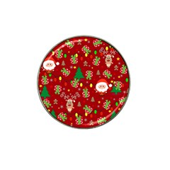 Santa And Rudolph Pattern Hat Clip Ball Marker (10 Pack) by Valentinaart