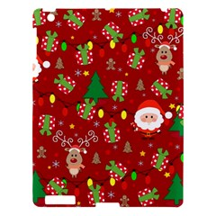 Santa And Rudolph Pattern Apple Ipad 3/4 Hardshell Case by Valentinaart