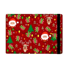Santa And Rudolph Pattern Ipad Mini 2 Flip Cases by Valentinaart