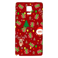 Santa And Rudolph Pattern Galaxy Note 4 Back Case by Valentinaart