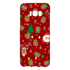 Santa And Rudolph Pattern Samsung Galaxy S8 Plus Hardshell Case  by Valentinaart