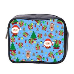 Santa And Rudolph Pattern Mini Toiletries Bag 2 Side by Valentinaart