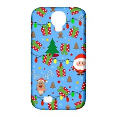 Santa And Rudolph Pattern Samsung Galaxy S4 Classic Hardshell Case (pc+silicone) by Valentinaart