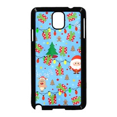 Santa And Rudolph Pattern Samsung Galaxy Note 3 Neo Hardshell Case (black) by Valentinaart