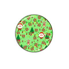 Santa And Rudolph Pattern Hat Clip Ball Marker by Valentinaart