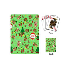 Santa And Rudolph Pattern Playing Cards (mini)  by Valentinaart