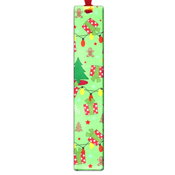 Santa and Rudolph pattern Large Book Marks