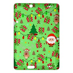 Santa And Rudolph Pattern Amazon Kindle Fire Hd (2013) Hardshell Case by Valentinaart