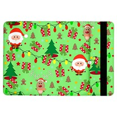 Santa And Rudolph Pattern Ipad Air Flip by Valentinaart