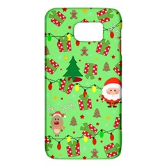 Santa And Rudolph Pattern Galaxy S6 by Valentinaart