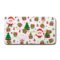 Santa And Rudolph Pattern Medium Bar Mats by Valentinaart