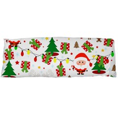 Santa And Rudolph Pattern Body Pillow Case (dakimakura) by Valentinaart